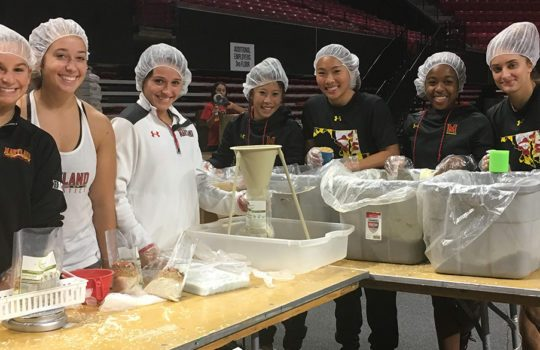 Terps take part in Homecoming Service Event