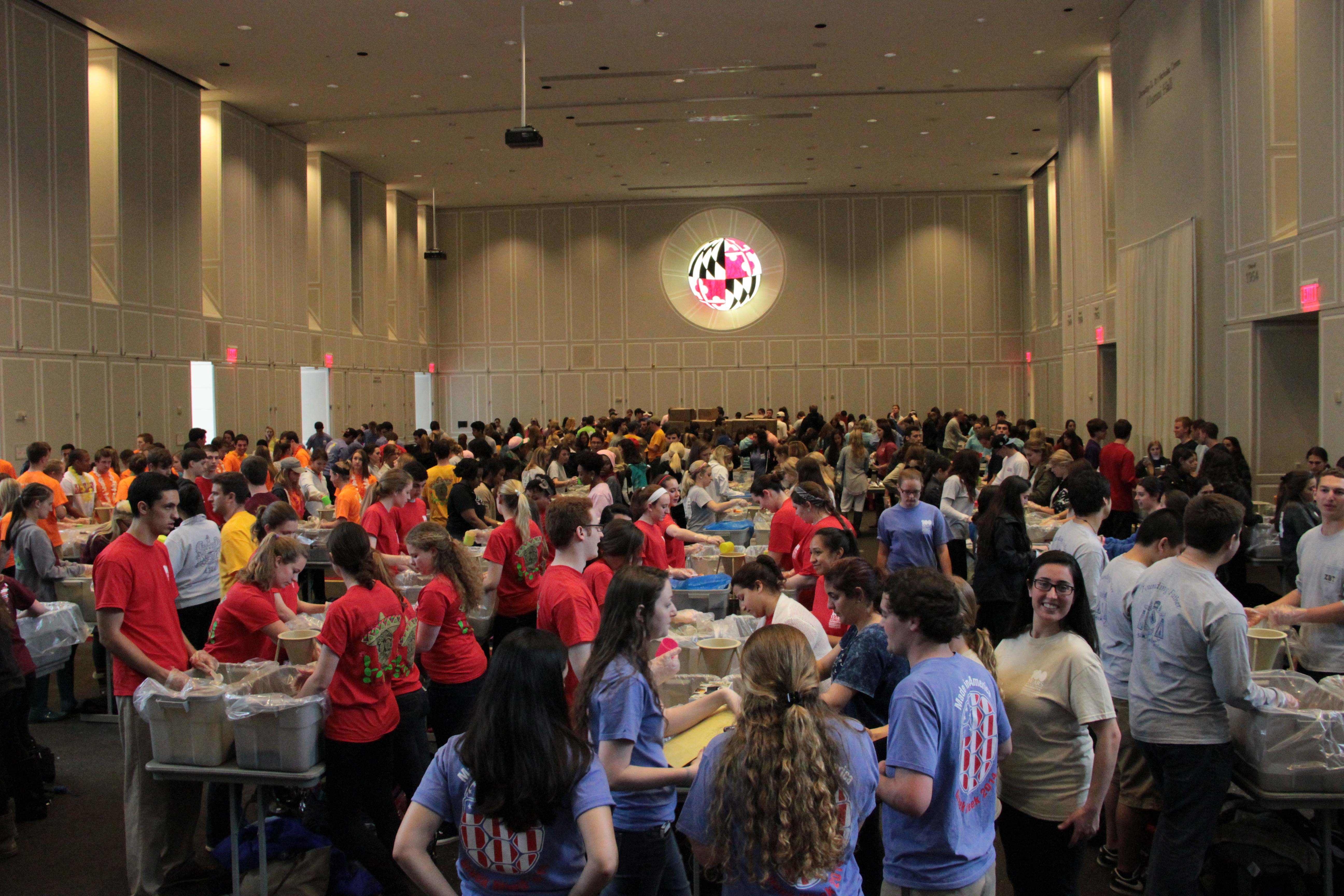 Terps pack 100,000 meals to fight hunger in metro area