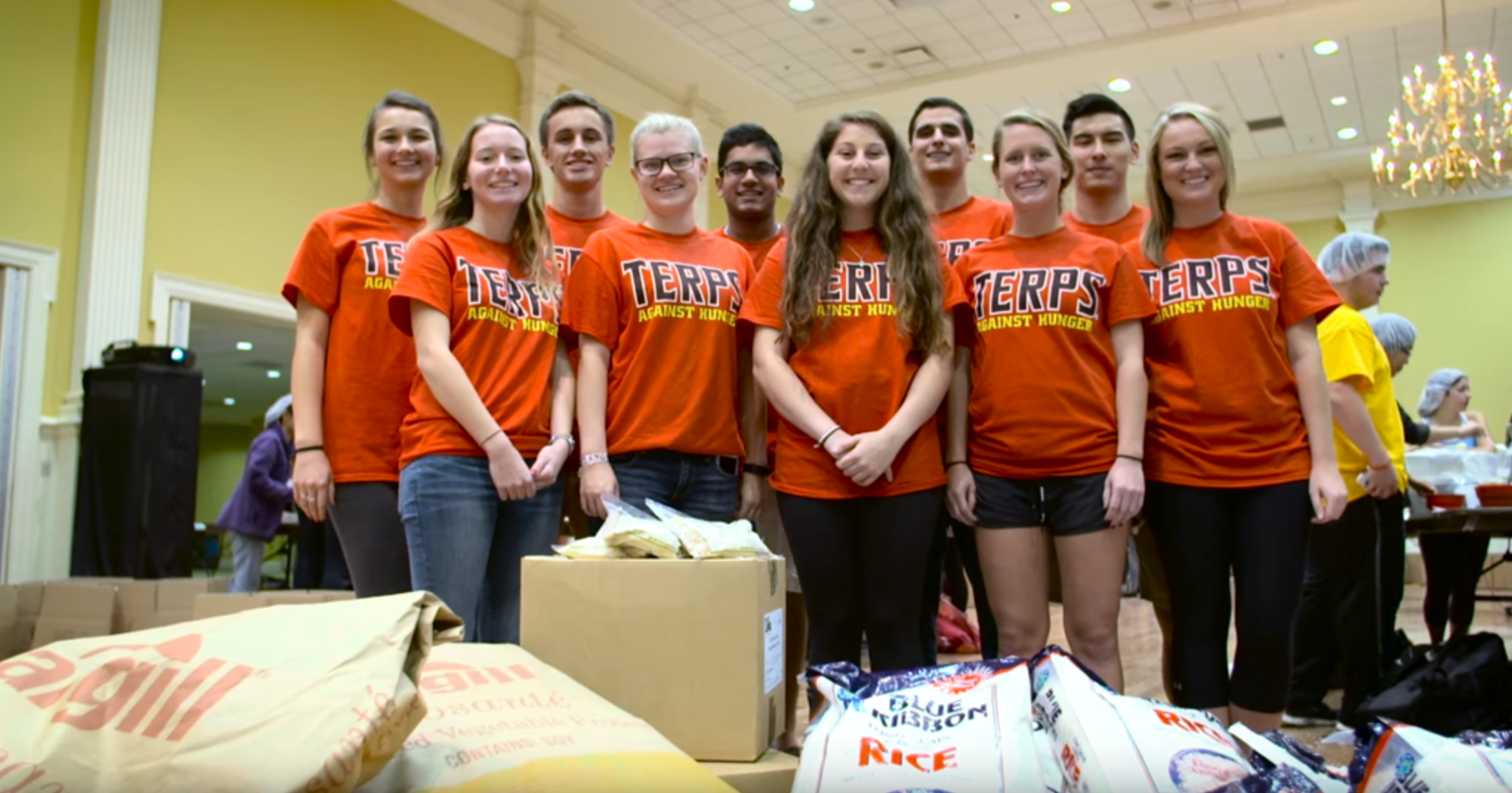 Terps Against Hunger in Maryland Pride Video