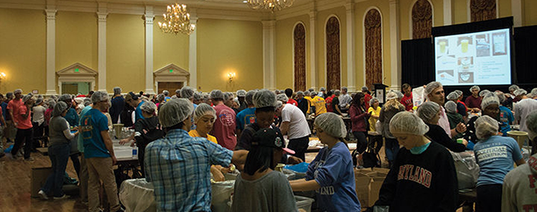 Terps Against Hunger volunteers make about 250,000 meals