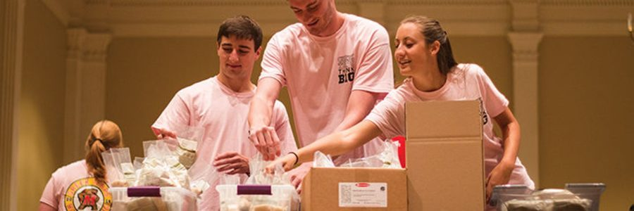 Terps Against Hunger, alumni teamed up to package 42,000 meals in two hours
