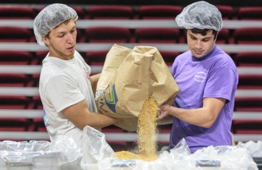 Terps Against Hunger packed its millionth meal on Sunday