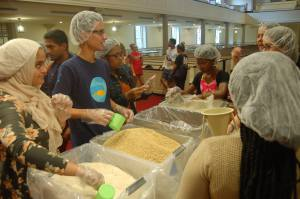 Terps Against Hunger prepares meals for the needy in Memorial Chapel